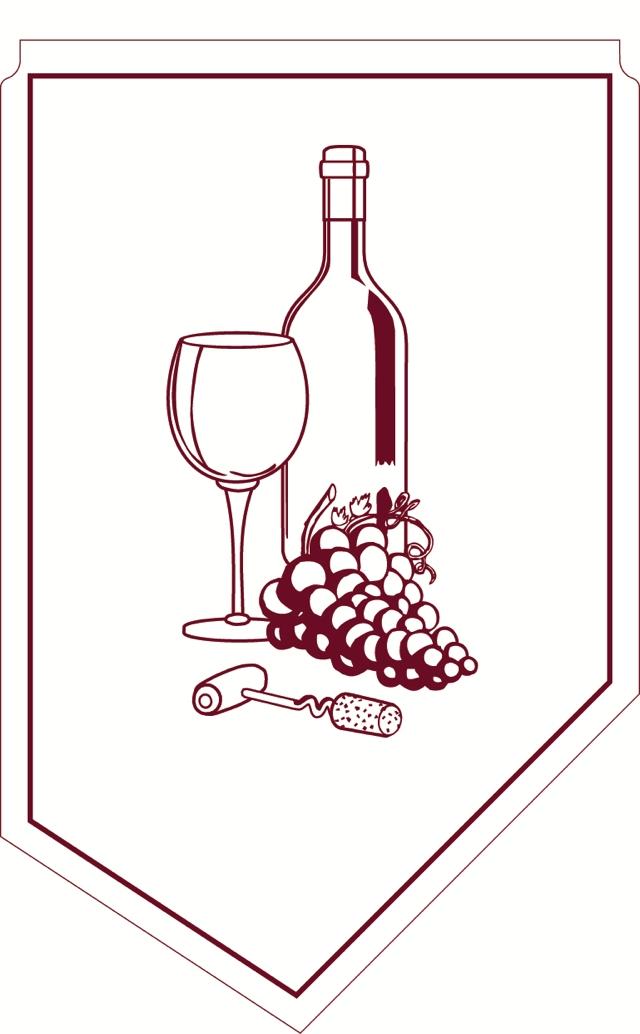 Weinmanschette bordeaux