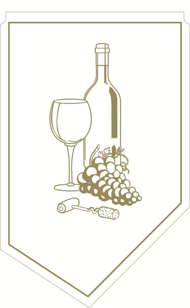 Weinmanschette gold