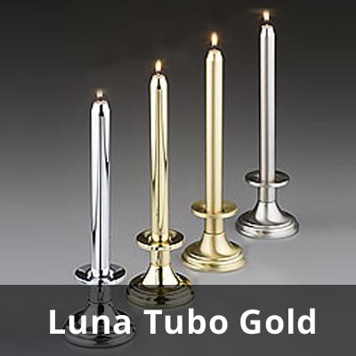 Kerzenhülsen Luna Tubo (gold)