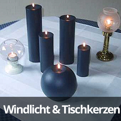 Windlicht- & Tischkerzen